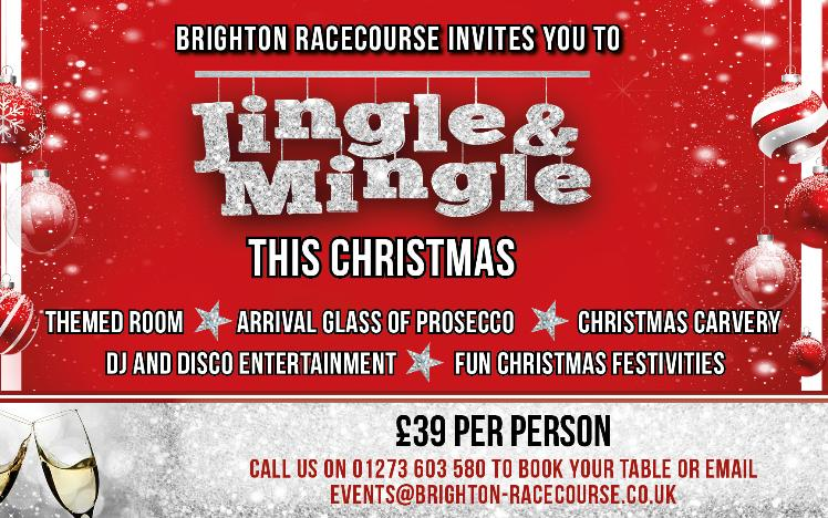 Jingle and Mingle for your office Christmas party at Brighton Racecourse