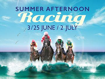Summer afternoon racing poster